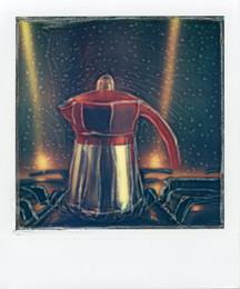 La signora del caffè - Polaroid Artistic TZ Manipolata