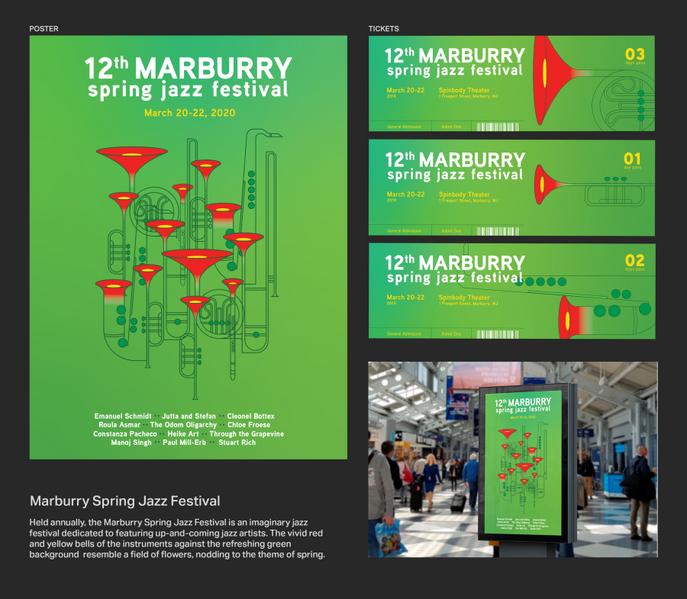 Marburry Spring Jazz Festival Branding