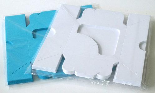 Caixinha Para Docinhos Brancas 7x7x3cm Pacote C/10 Unid