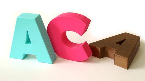 Letras Caixa 3d Plásticas 11,5cm Altura X 3cm Profundidade