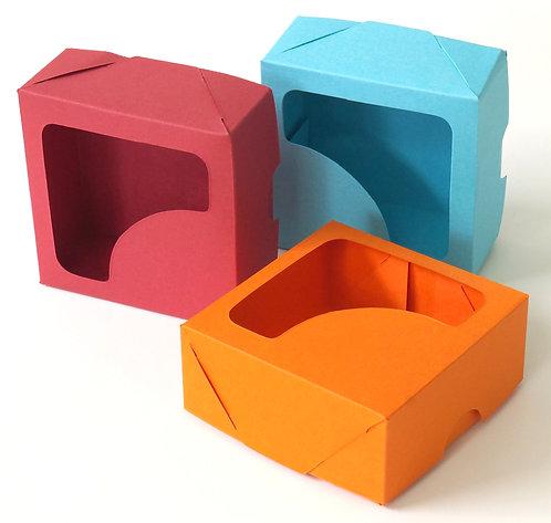 Caixinha Para Docinhos Cores Lisas 7x7x3cm Pacote C/10 Unid