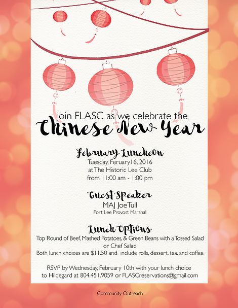 Fort Lee Area Spouses Club Luncheons
