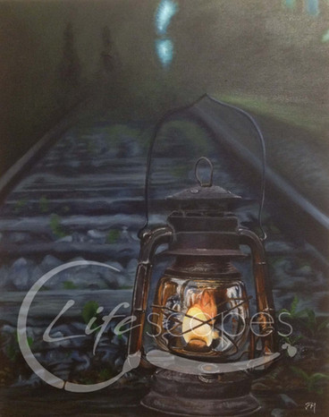 Lantern on Railway line at Night Part 5