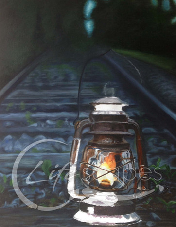 Lantern on Railway line at Night Part 4