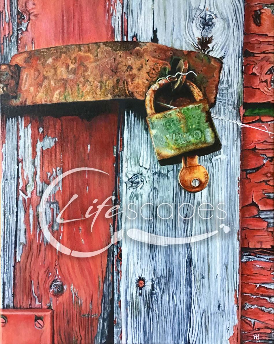 Padlock, Key and Door