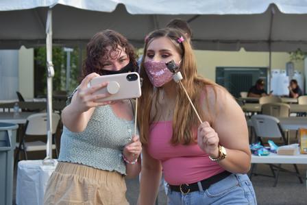 Selfie and Smores. Final Nosh 2021