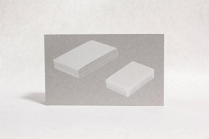 名刺と切り餅 Screenprint on card board 2018