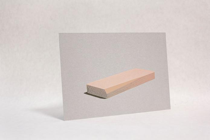 かまぼこ板の二年分 Screenprint on cardboard 2018