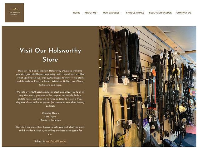 The SaddleShack Website Screenshot