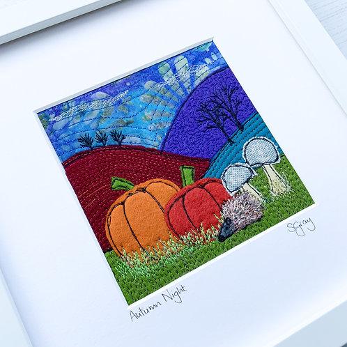 Original Textile Artwork - Autumn Night