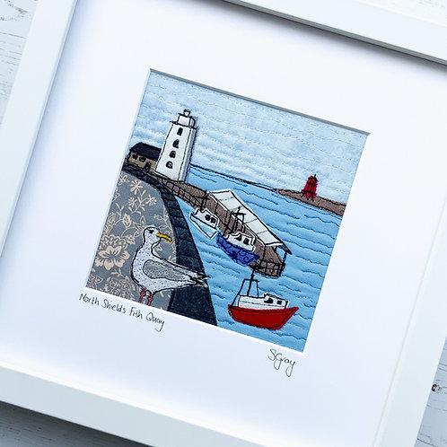 Original Textile Art - North Shields Fish Quay