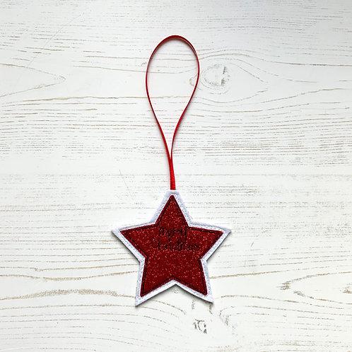 Fabric Tree Decoration - Star