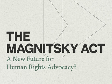 UTokyo Law Hub To Host Symposium With Human Rights Watch on the Global Magnitsky Movement and Japan