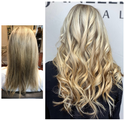 Length and volume from hair extensions