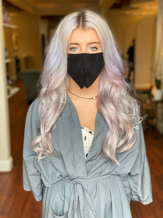 Lilac locks with hand tied wefts