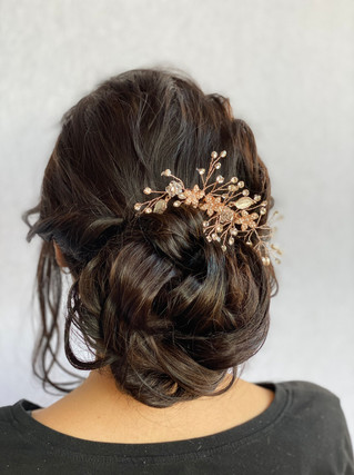 A twisted glam updo