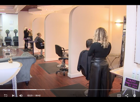 KHOU features Janelle Alexis Salon's reopening