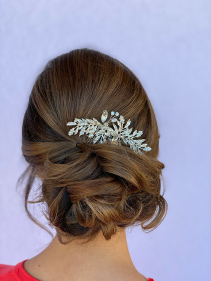 A new take on a bridal updo. Loose and b