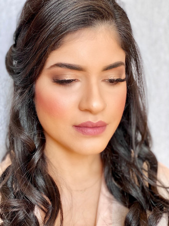 Glowing goddess makeup
