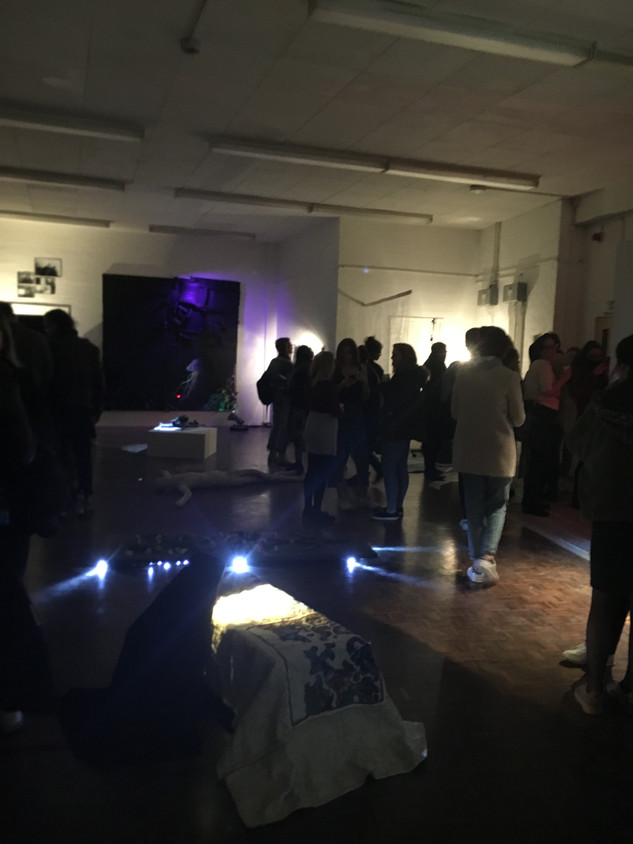 Private view of Curiosity In The Dark exhibition. 11th December 2017.