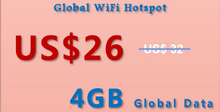 4GB Data Global 100+