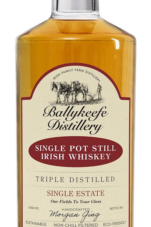 Ballykeefe Single Estate Pot Still Irish Whiskey 46%abv 70cl. bottle