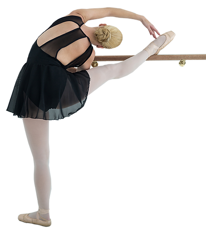 ballerina-stretching-barre-while-practic