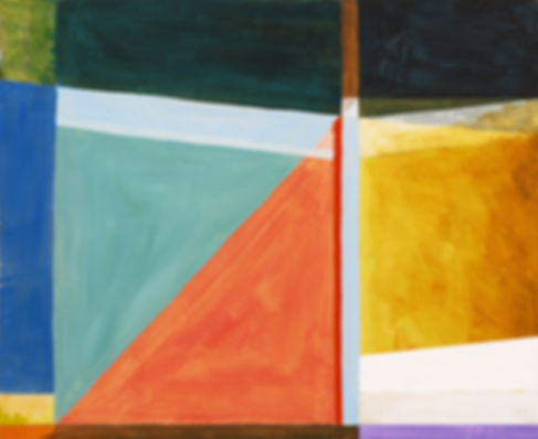 Abstract Triangles Painting