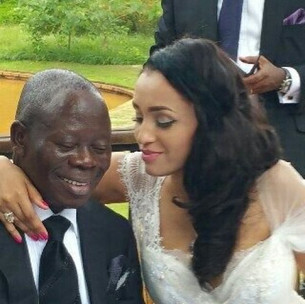 Where is Oshiomole's Beautiful wife?