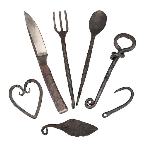 Hand Forged Rustic Display Utensil Set (One Of Each Pictured)