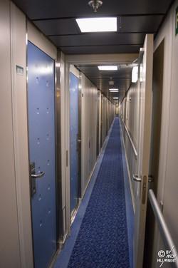 Coursives des cabines (pont 6)