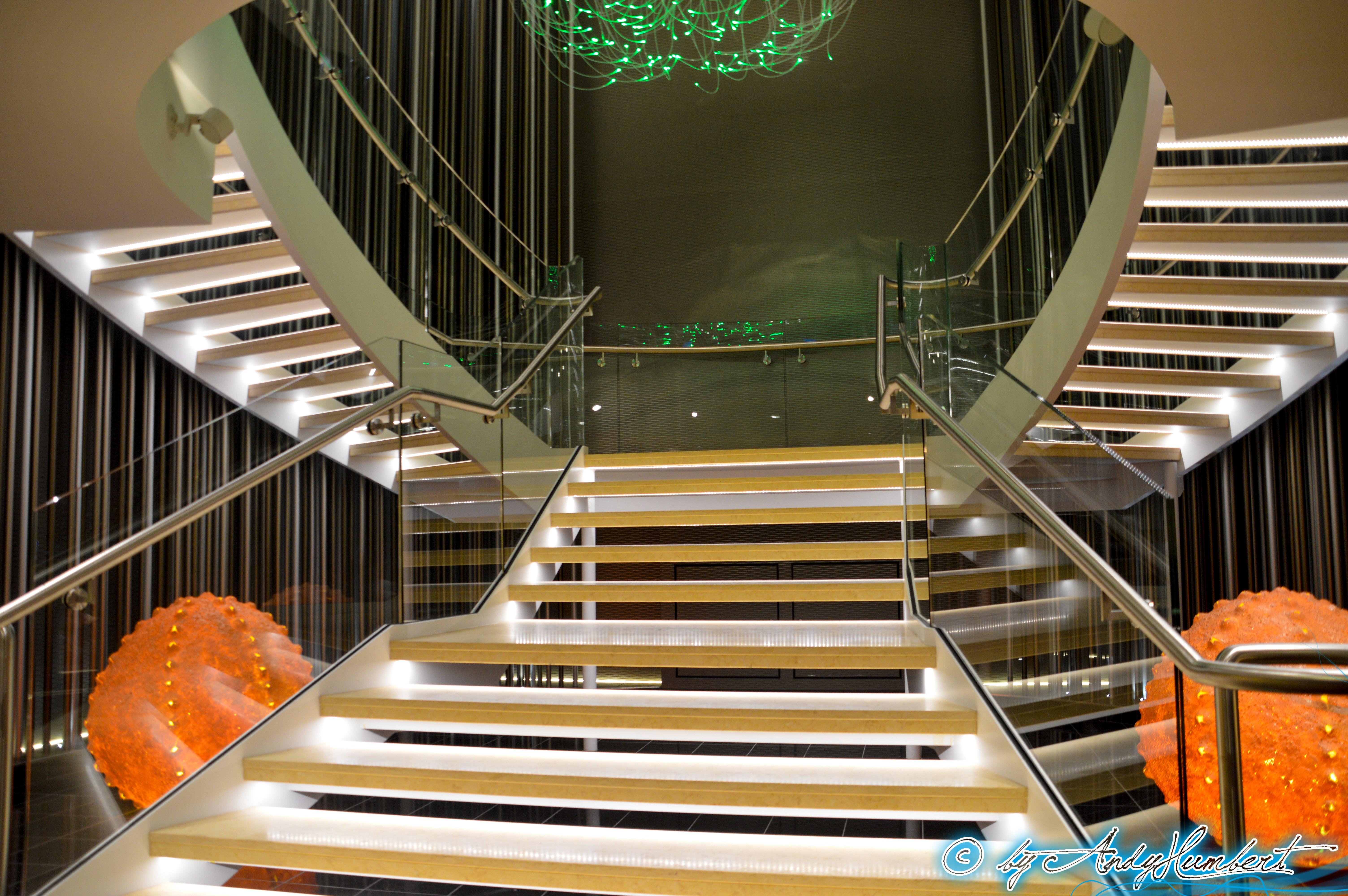 Escaliers des restaurants