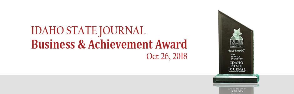 Dr. Paul Romriell Idaho State Journal Business & Achievement Award