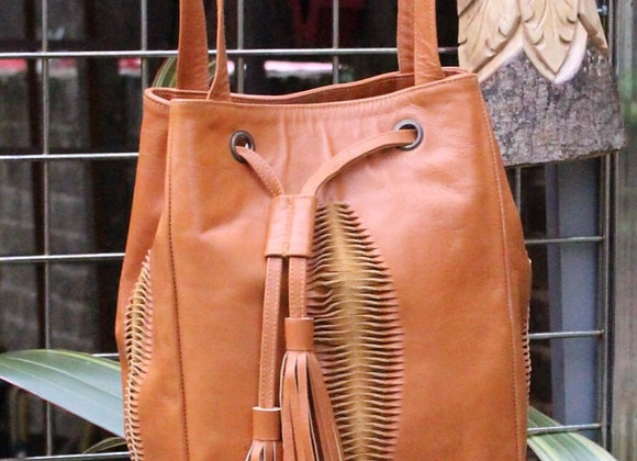 Leather Tribal Style Bag
