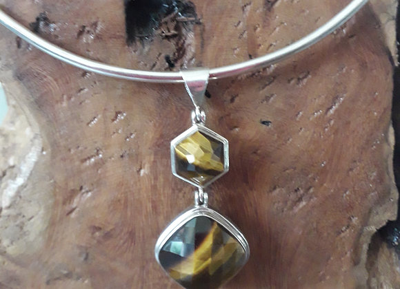 Silver and Tigers eye pendant