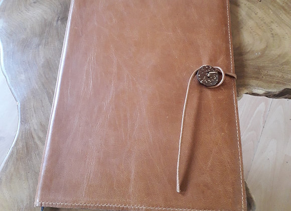 Refillable A4 leather appointment diary / planner