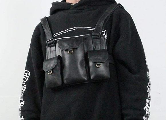 Unisex Leather Chest Bag.