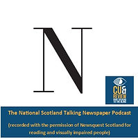 Click the National Cue and Review badge to listen to articles read uploaded every weekday