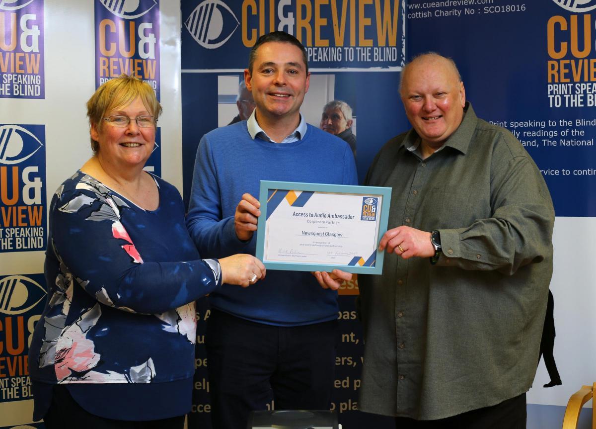 Newquest Glasgow become an Audio Ambassador