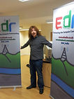 Former station manager Chris at the East Dunbartonshire Radio boards