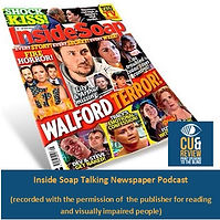 Click the Inside Soap badge to listen to weekly recordings of the magazine