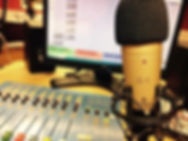 Myriad Radio Studio with desk andmicrophone