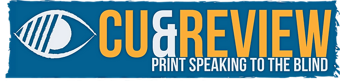Cue and Review Print Speaking to the Blind Logo