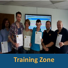 Volunteers with their Myriad Training certificates