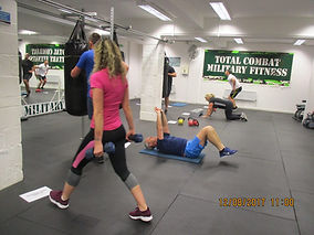 Women and men in our onsite gym