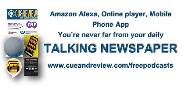 White version Alexa App and Online player ad