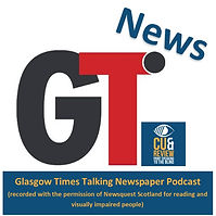 Click picture of Glasgow Times Cue and Review Badge to listen to articles uploaded every weekday