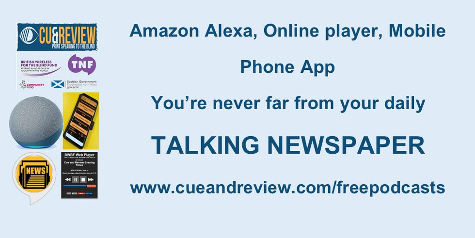 Alexa App and Online player advert