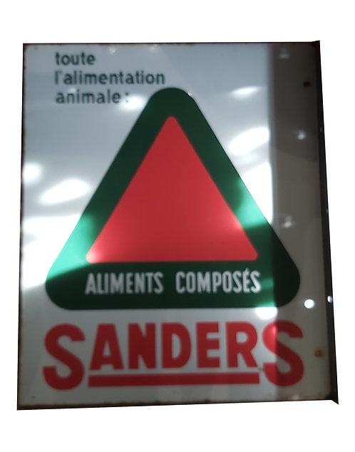 Plaque émaillée doubles faces Sanders.