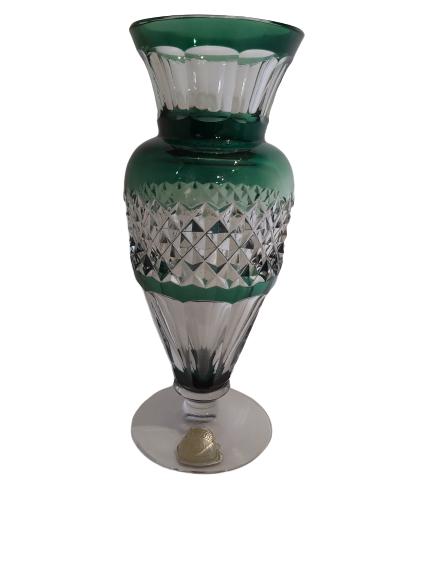 Vase en cristal doublé taillé val st-Lambert.